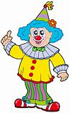 Funny smiling clown