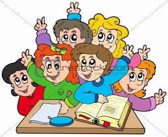 Group of school kids
