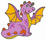Purple dragon with big wings