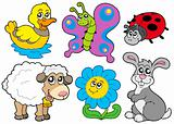 Spring animals collection