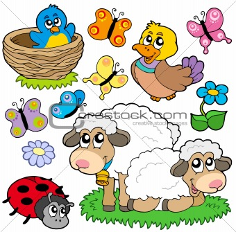 Various spring animals