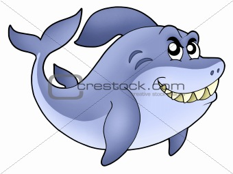 Big cartoon shark