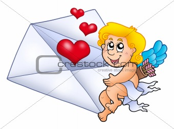 Cupid holding envelope 1