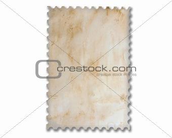 Blank vintage postage