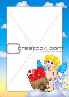 Valentine frame with Cupid 2