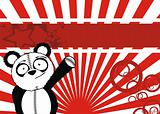 panda bear cartoon plush background