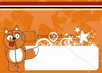 fox cartoon plush background