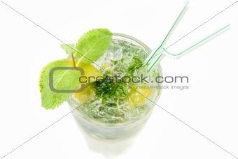 mojito alcohol fresh cocktail closeup