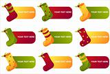 christmas socks banners