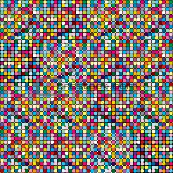 Abstract rounded pixel mosaic, colored background