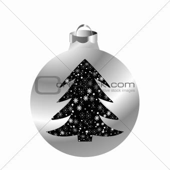 Christmas ball with Christmas tree