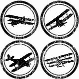 Stamps with old airplanes