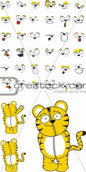 tiger plush cartoon set1