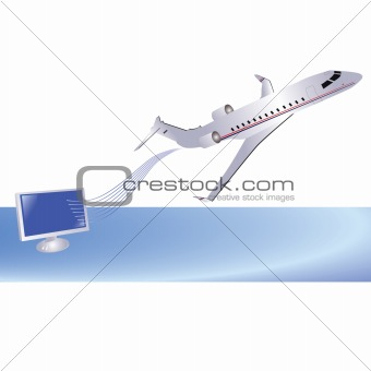 Airplane and computer