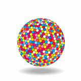 Colored ball isolated over white background