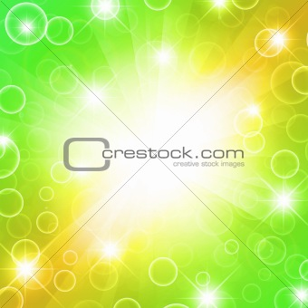 bright green background