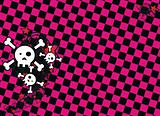 skull cartoon stars background4
