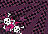 skull cartoon stars background6