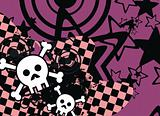 skull cartoon stars background8