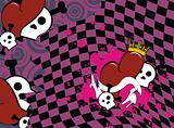 skull heart background3