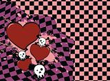 skull heart background4