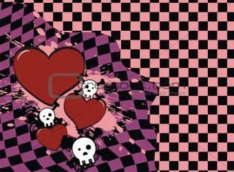 skull heart background4