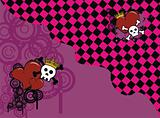 skull heart background6