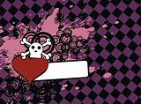 skull heart background7