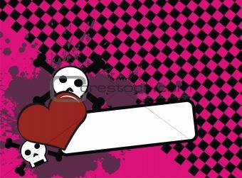 skull heart background8