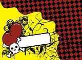 skull heart background9