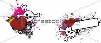 cartoon skull and heart 1