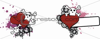 cartoon skull and heart 8