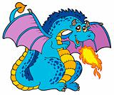 Big blue fire dragon