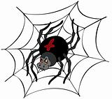 Big cartoon spider