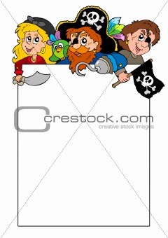 Blank frame with cartoon pirates