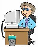 Cartoon office worker