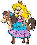 Cute princess riding horse