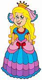 Cute princess with long hair