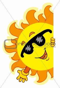 Waving cartoon Sun