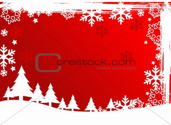 abstract vector Christmas tree background