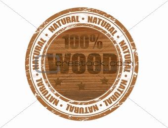 100% wood stamp