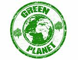 green planet stamp