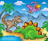 Landscape with dinosaurs 2