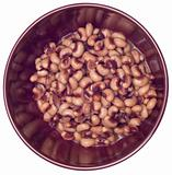 Bowl of Canned Black Eyed Peas