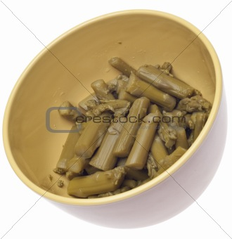 Bowl of Canned Asparagus