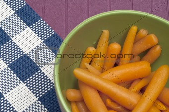Close Up of Bowl of Canned Carrots