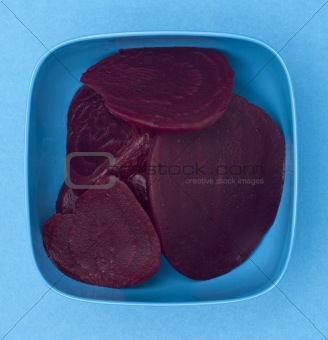 Bowl of Canned Beets