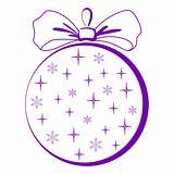 Christmas-tree glass ball, pictogram