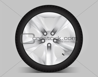 Aluminum wheel - vector illustration