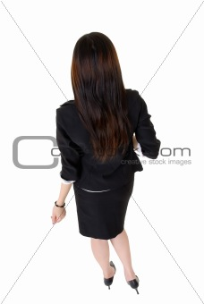Business woman back